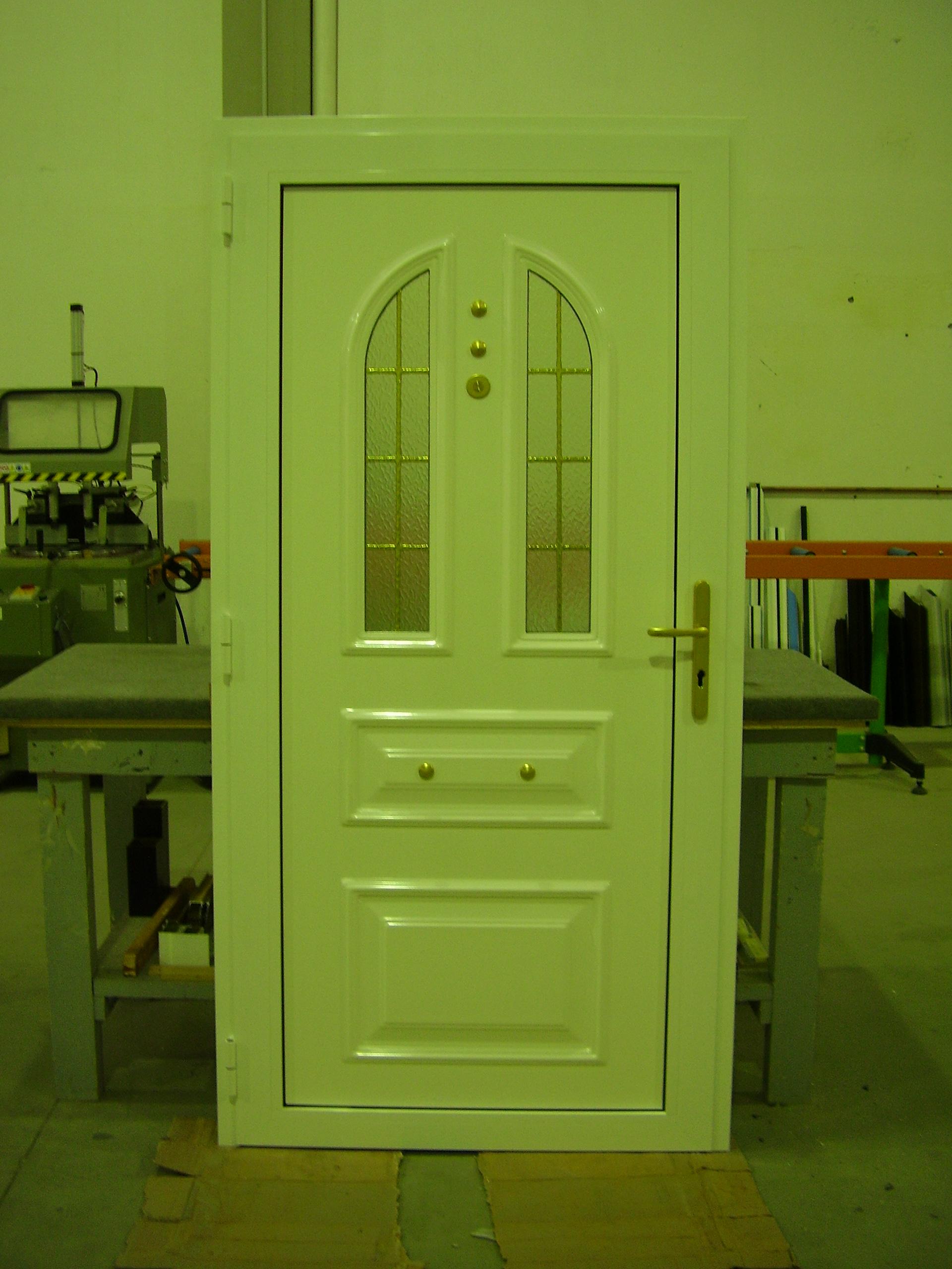 Puerta entrada de panel.